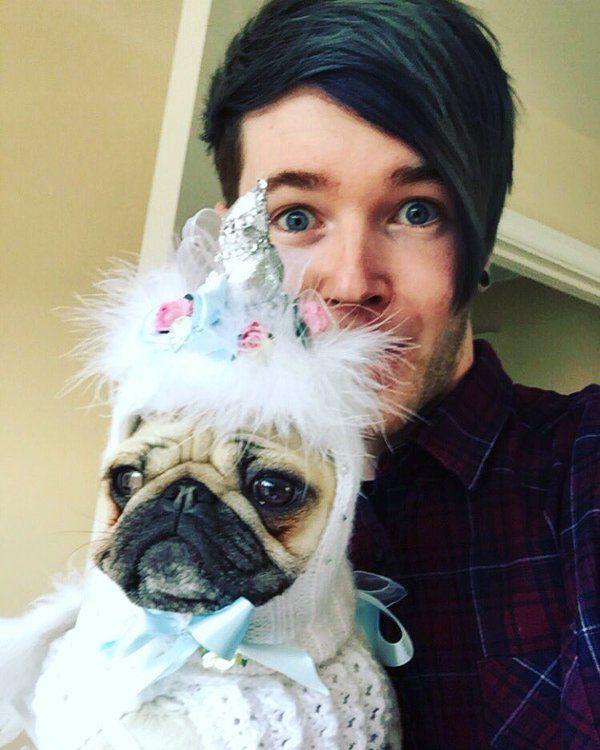 DanTDM and his pug UNICORN