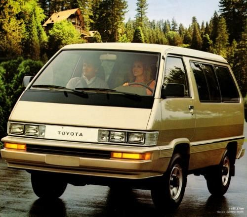 Photo Image Gallery & Touchup Paint: Toyota Van in Light Beige Metallic (4D2) YEARS: 1987-1987. Photoshoped then?