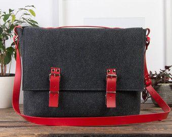 Large Macbook 17 Pro bag, Macbook Bag, Macbook 15 Bag, Messenger bag, Felt bag, POPEQ