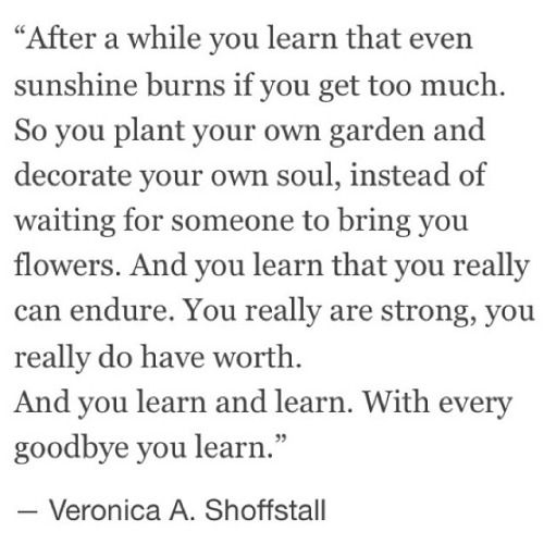 you learn and learn // veronica a. shoffstall #strong