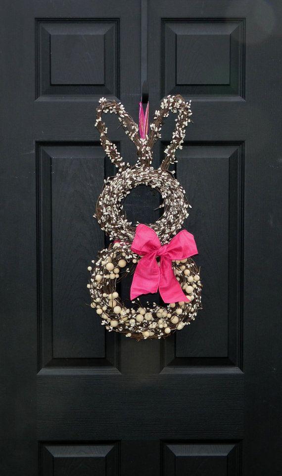 SO CUTE. Spring Wreath Easter Wreath Bunny Wreath
