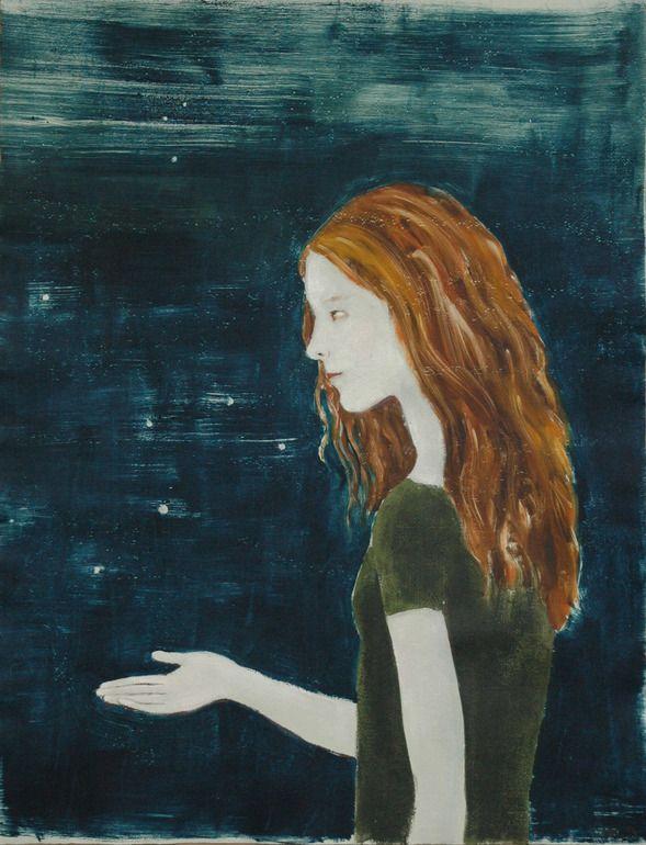 """Saatchi Online Artist: June Sira; Monotype, 2012, Printmaking """"Fireflies"""" #art"""