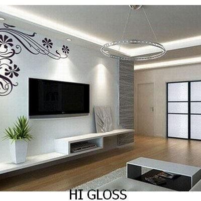 FLOATING TV SHELF SET SHOP WALL DISPLAY CONCEALED FITTING HIGH GLOSS WHITE
