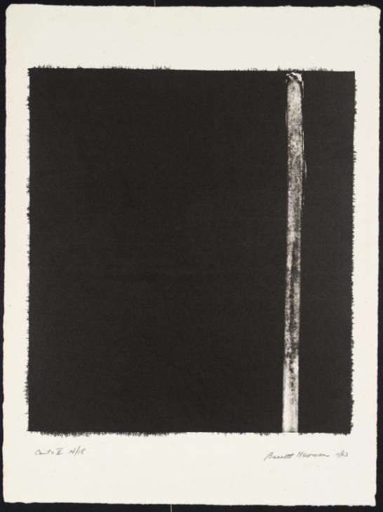 Barnett Newman 'Canto V', 1963–4 © ARS, NY and DACS, London 2016