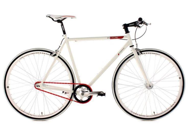Verkaufe mein Fitnessbike, KS Cycling, »Essence«, 28 Zoll, weiß 1 Gang (Singlespeed), Freilauf oder...,Neuwertiges Fixie/ Fitnessbike, KS Cycling, »Essence«, 28 Zoll in Berlin - Reinickendorf
