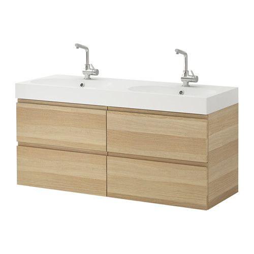 1000 id es sur le th me meuble lavabo double sur pinterest for Chene blanchi ikea