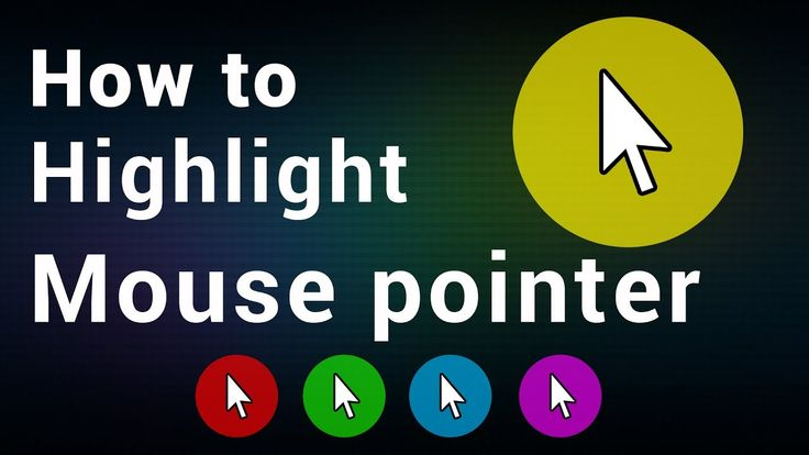 How to highlight mouse pointer | yellow mouse pointer
