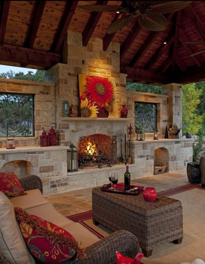 Outdoor living space.....