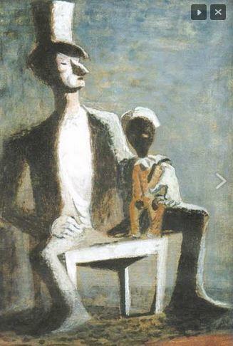František Tichý - Ventriloquist #painting  #art #Czechia