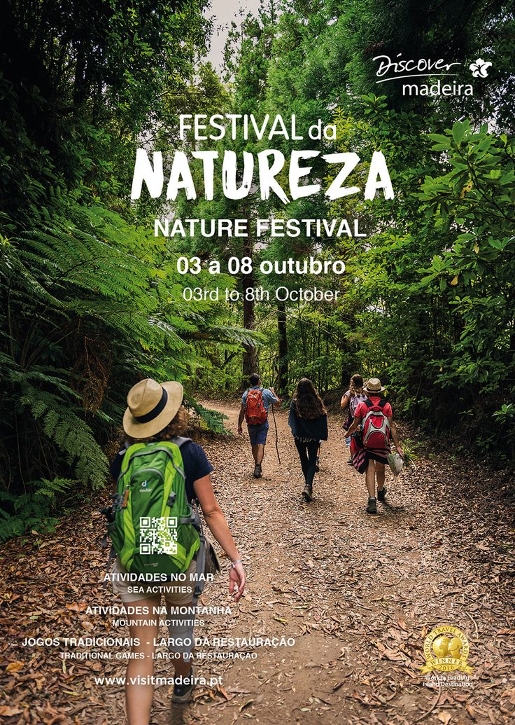 Don´t miss the Madeira Nature Festival: October 3rd to 8th | Via VisitportugalBlog | 6/10/2017  The Madeira Nature Festival promotes for a week tourist activities based on nature thus encouraging a direct contact with the rich natural heritage of the archipelago of Madeira, an event that will be held between October, 3rd to 8th.   #Portugal