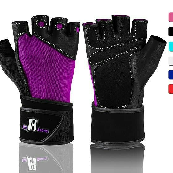 RIMSports Women Weight Lifting Gloves w/ Wristwrap