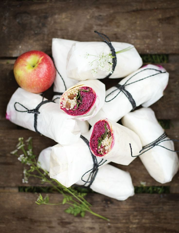 Beetroot, apple and goat's cheese wraps recipe by David Frenkiel | Cooked