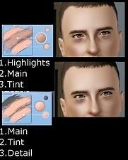 Mod The Sims - Nose contour and Tired eyes make up for Defined noses and realistic eyes!