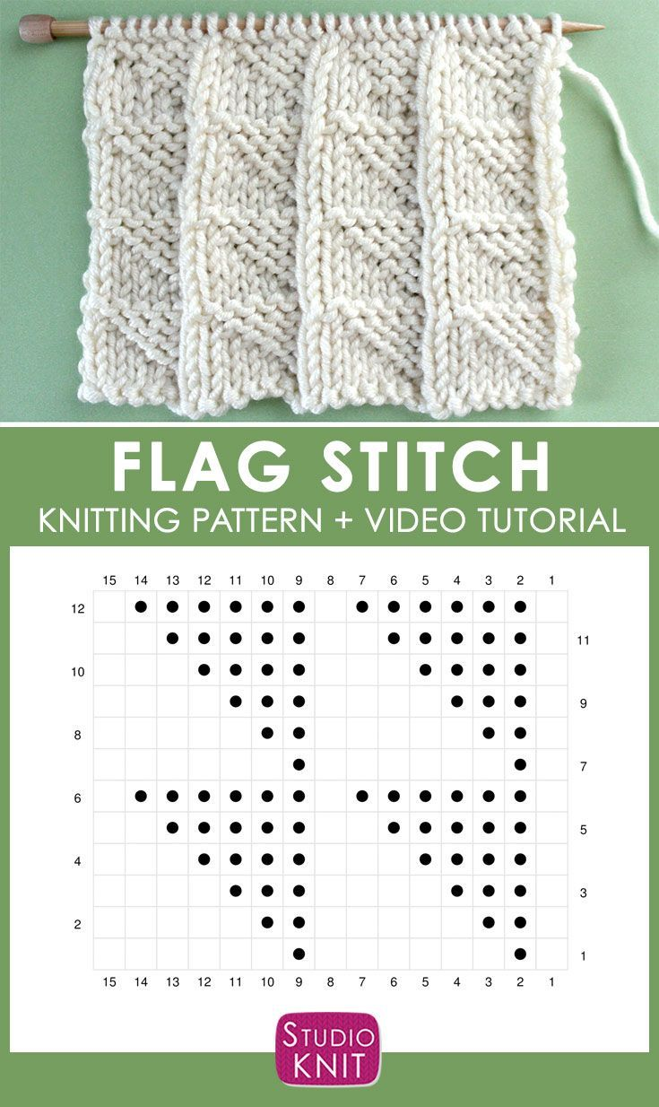 Learn How to Knit the FLAG Stitch with Free Patter…