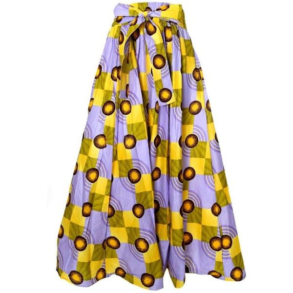 Plus Size Heavy Weight Sash Waist Dashiki Print Skirt, Yellow/Purple... ($56) ❤ liked on Polyvore featuring skirts, long chiffon skirt, pleated chiffon maxi skirt, chiffon maxi skirts, plus size maxi skirt and plus size cami