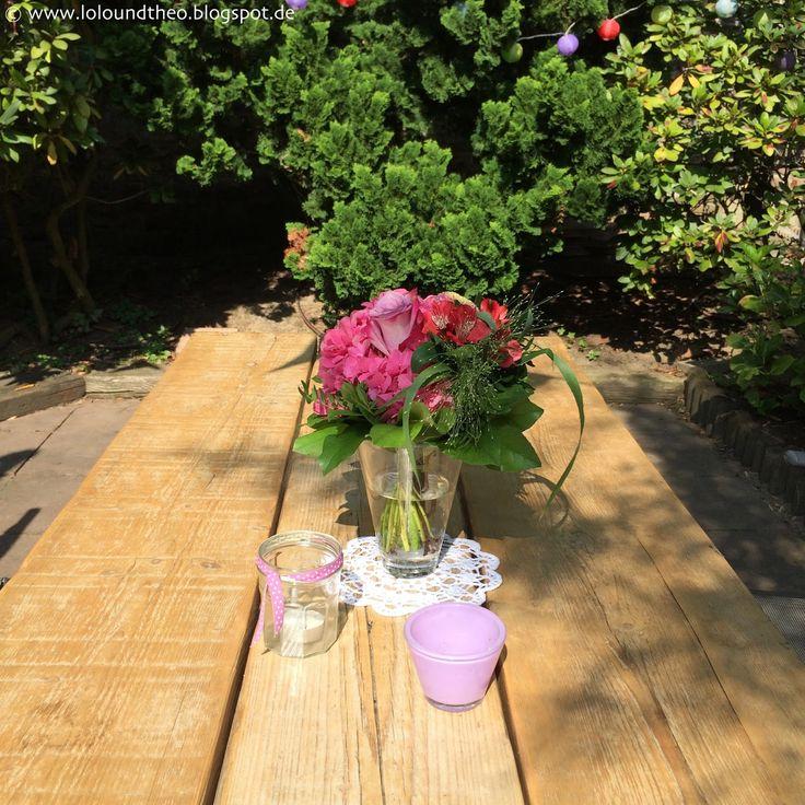 DIY Gartentisch Aus Alten Brettern / Tisch Aus Gerüstdielen /  Www.loloundtheo.blogspot. Garten GestaltenGarten IdeenDiy ...