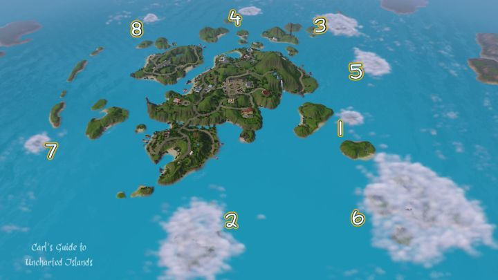 The Sims 3 Island Paradise Guide - Unlocking Uncharted Islands with Maps and Hints