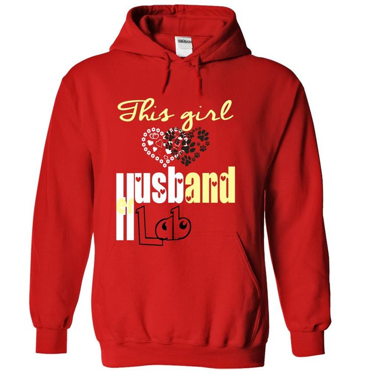 This girl loves her Husband and Lab T-Shirts, Hoodies. BUY IT NOW ==► https://www.sunfrog.com/Pets/Limited-Edition-This-girl-loves-her-Husband-and-Lab-Red-29245521-Hoodie.html?id=41382