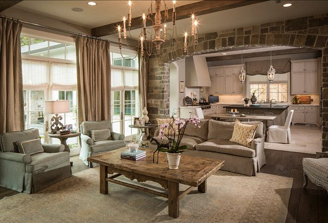 French Family Room. Inspiring French Family Room Design. Love it! #French…