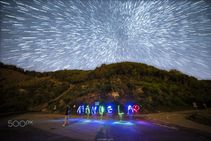 I lost in this Dream! - Double exposure - lightpainting- Startrail!   ©…
