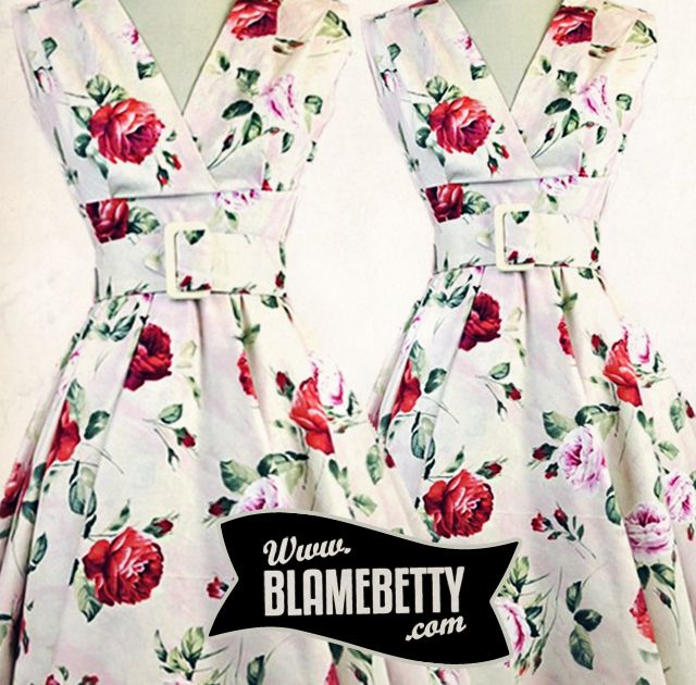 This dress is just stunning. So, so stunning. #blamebetty #vintagefloral #retro #pinup