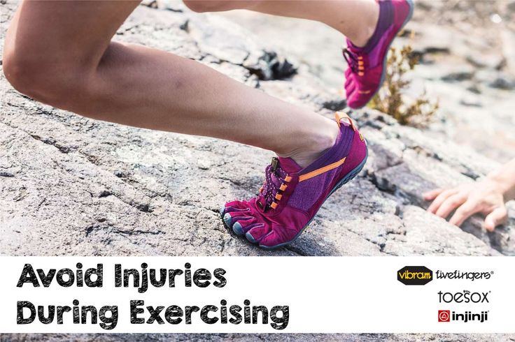 Avoid injuries during exercising