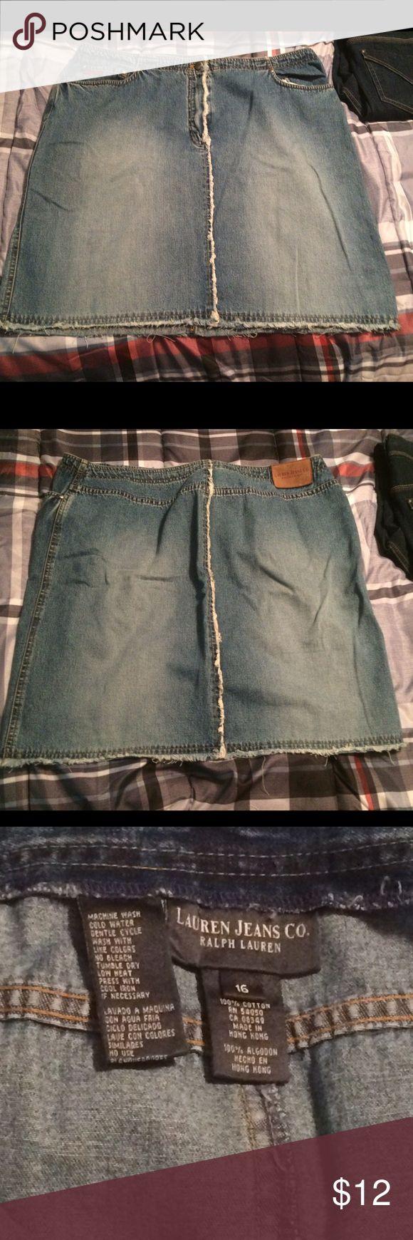 Ralph Lauren Jean Skirt size 16 Ralph Lauren soft light jean skirt. Size 16, rarely worn. Ralph Lauren Skirts