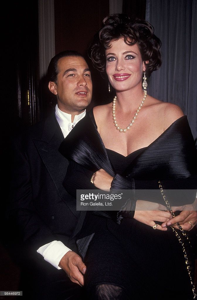 Model Kelly LeBrock and actor Steven Seagal attending 'Gala Honoring America's Heroes of '91' on October 28, 1991 at the Waldorf Astoria Hotel in New York City, New York.