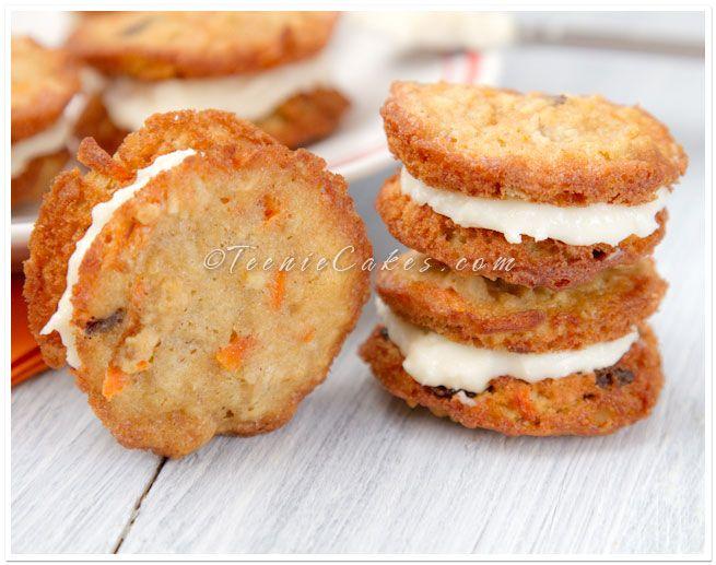 carrot cake cookiesCarrot Cakes, Cake Recipe, Recipe Yummy, Sandwiches Cookies, Cookies Yum, Cake Dreams, Cream Cheese, Carrots Cake Cookies, Yummy Cake