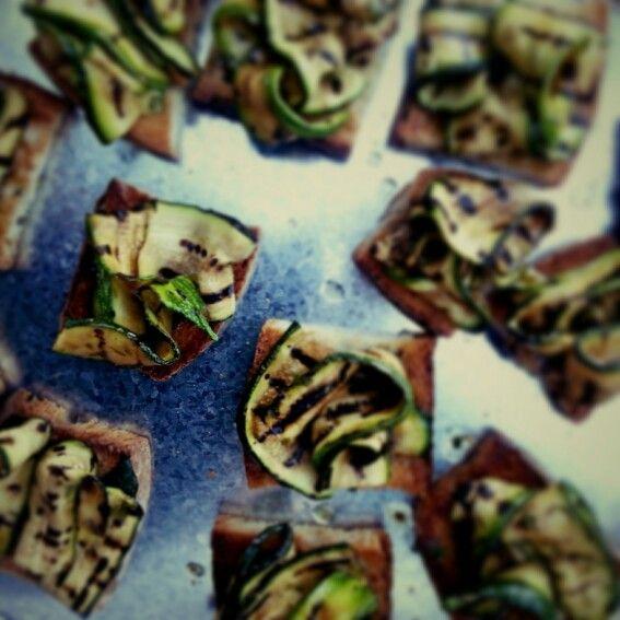 #grilled # zucchine #bruschetta #italianstyle #italianfood #myfood