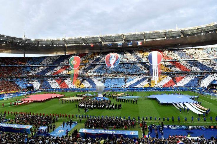 A cerimónia de abertura da final do Euro2016