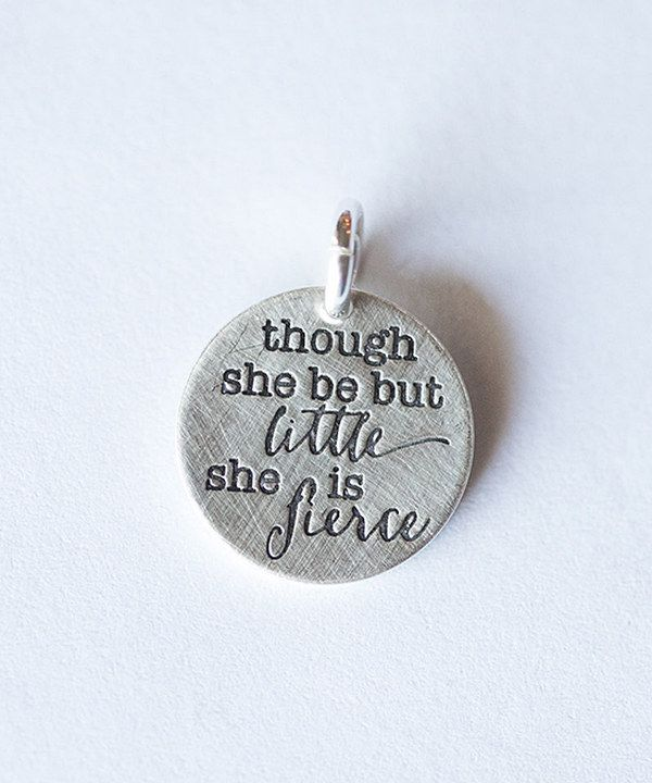 Take a look at this Five Little Birds Jewelry Sterling Silver 'She is Fierce' Charm on zulily today!