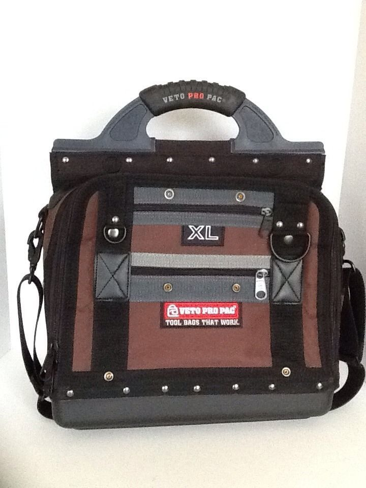 Veto Pro Pac XL Tool Bag with 67 Pockets Contractor Electrician Technician