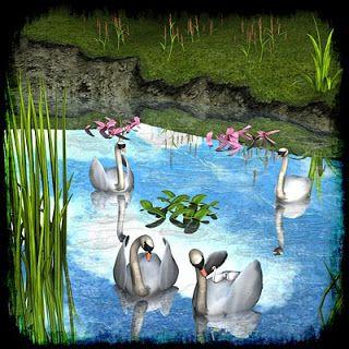 Mininessie´s art gallery: Swan lake - Lago de los cisnes