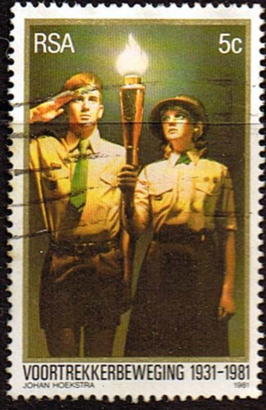 South Africa 1981 Voortrekker Scouts Movement Fine Used SG 503 Scott 557 Condition Fine Used Only one post charge