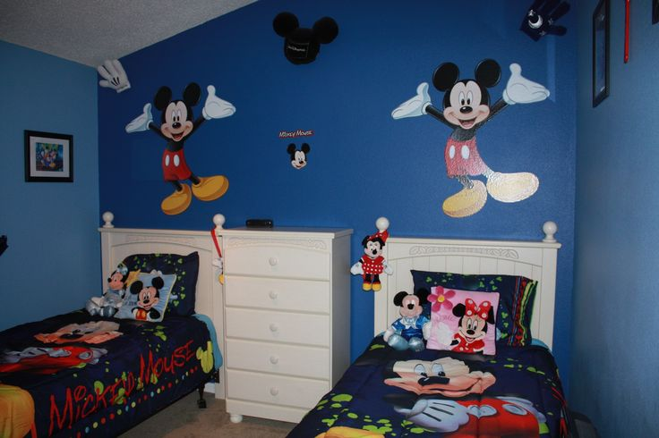 "Mickey & Minnie Mouse Bedroom ""Fantasy House Villa"": http://www.theluxuryvillasorlando.com/Page_2.php www.facebook.com/FantasyHouseVillaOrlandoFlorida"