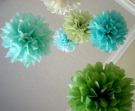 Piece.: DIY Tissue Pom Pom Flower Tutorial