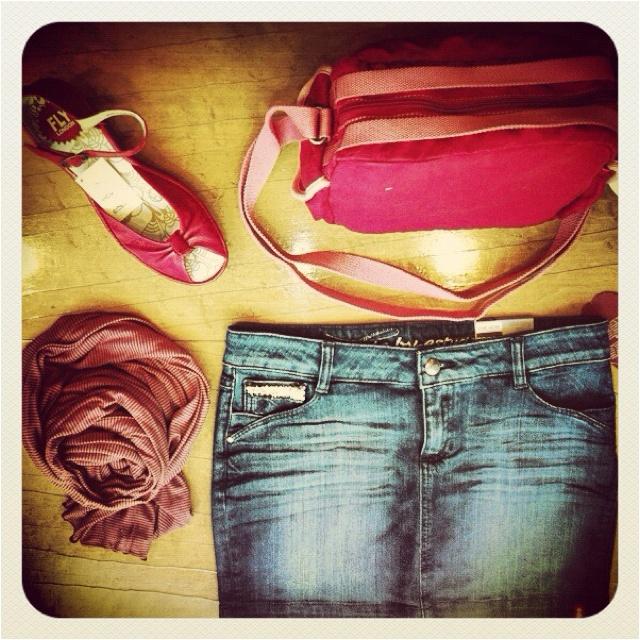 Jeans bag shoes