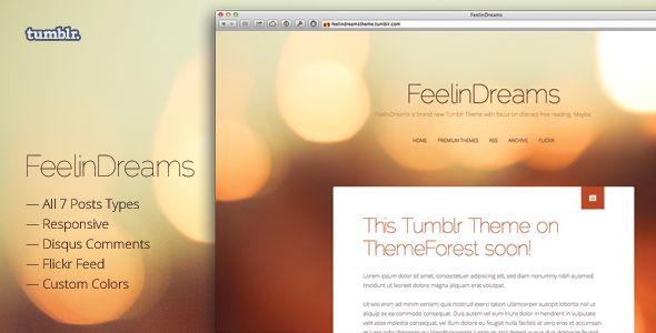 FeelinDreams — Retina & Responsive Tumblr Theme - Blog Tumblr