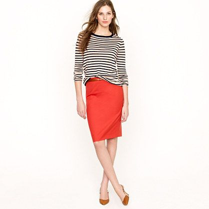 Pencil skirt in Super 120s: Work Clothing, Colors Combos, Poppies Grove, Casual Tops, Red Pencil Skirts, Bright Pencil, Jcrew, Stripes, Super 120S