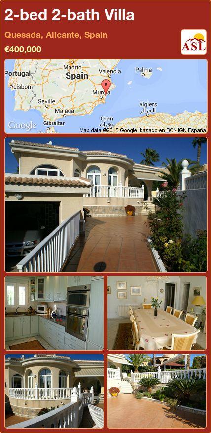 2-bed 2-bath Villa in Quesada, Alicante, Spain ►€400,000 #PropertyForSaleInSpain