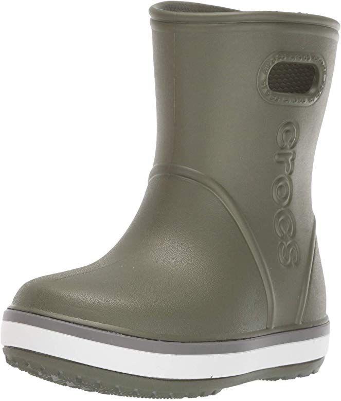 Kids Rain Boots Crocs Unisex-Child Crocband Waterproof Slip on Shoes