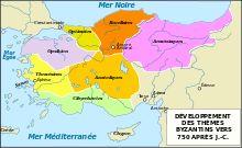 Thèmes BYZANTINS vers 750-Empire byzantin — Wikipédia