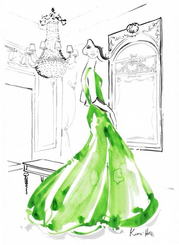 Kerrie Hess fashion illustration