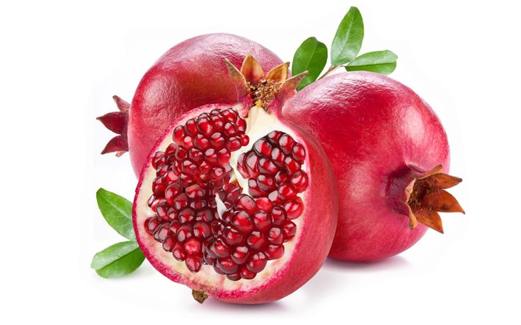 """Reserve Pomegranate  A symbol of hope and abundance in many cultures, pomegranates have been enjoyed for thousands of years. When opened, this """"jewel of the winter"""" reveals clusters of juicy, gem-like seeds on the inside containing a powerhouse of antioxidants. Pomegranates are one of the world's most popular fruits."""