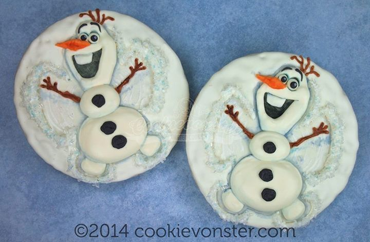 Angel cookies, Disney frozen olaf and Snow angels on Pinterest