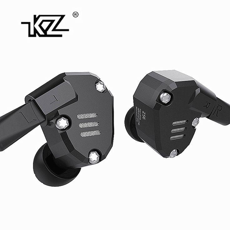 Kz zs6 2dd + 2baハイブリッドで耳イヤホンハイファイdj monitoランニングスポーツイヤホン耳栓ヘッドセットインナーイヤー型kz zs5プロ事前販売