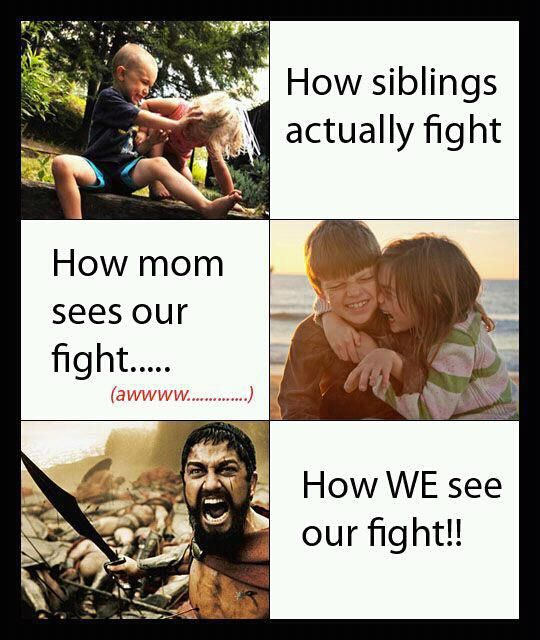 How WE see our fight!! Made me think of the boys!