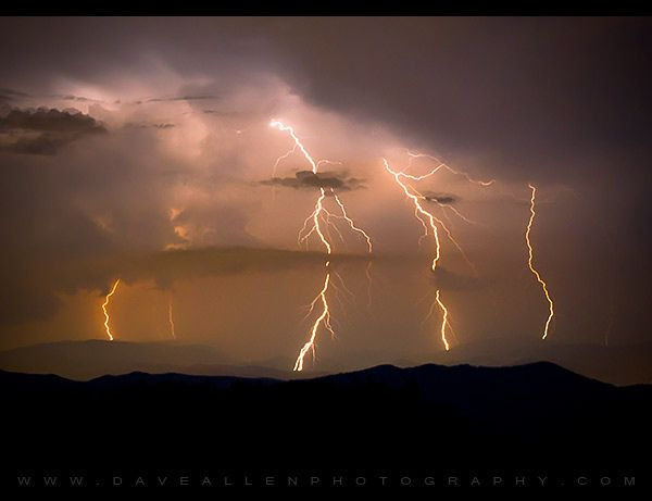 Lightning over Asheville, NC by Dave Allen Photography, via Flickr