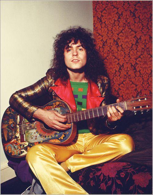 Marc Bolan, possible wearing his favorite label, Alkasura